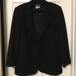 SAG HARBOR 100% black wool blazer